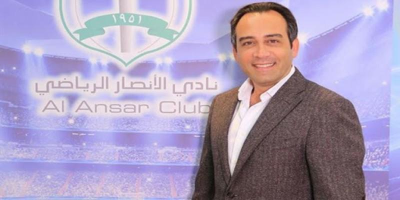 رئيس الأنصار نبيل بدر يبادر لدفع تكاليف اللقاح ضد كورونا لجميع لاعبي كرة القدم المسجلين ضمن لوائح دوري الدرجة الأولى